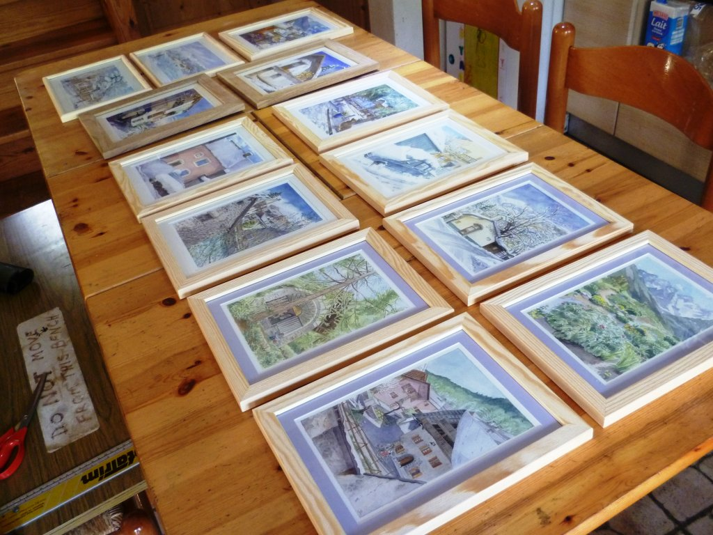 Susan Lomas framed originals