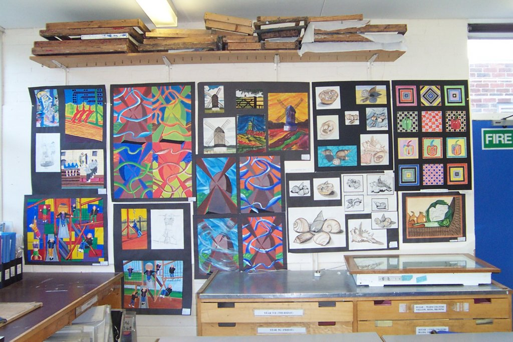 GCSE Art display, John Colet School