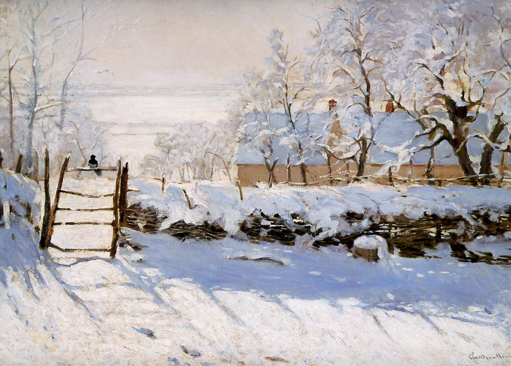 The Magpie by Monet 1869