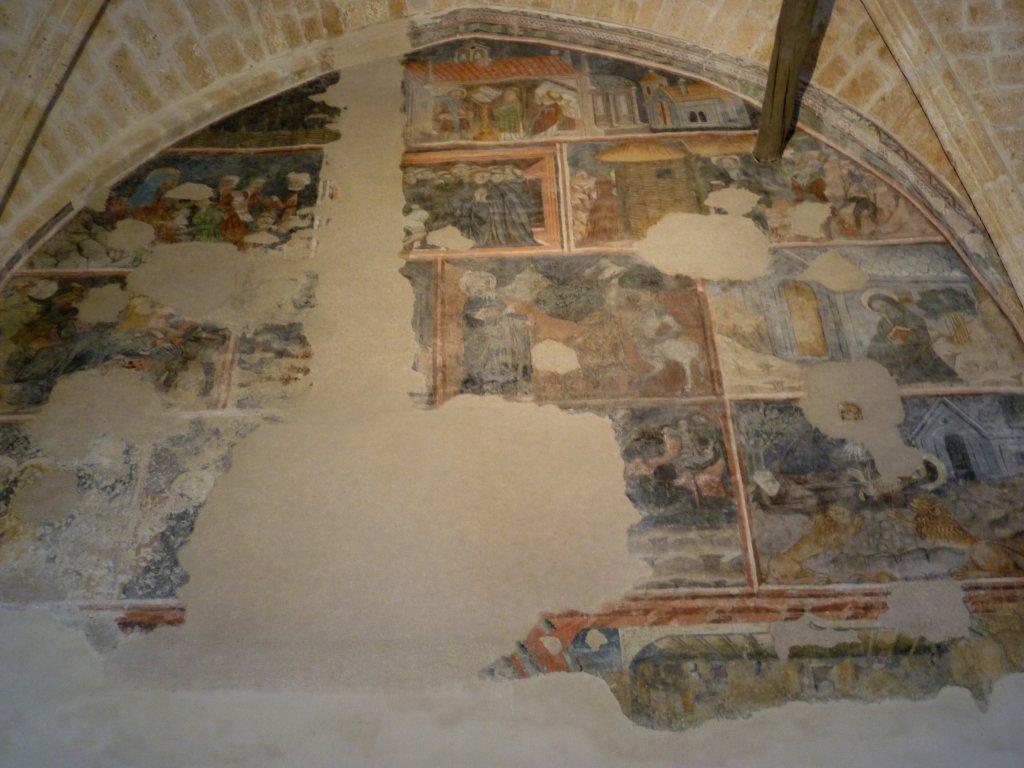 La Vie de St Antoine, 15th century fresco, Eglise des Cordeliers, briancon.