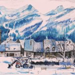 Le Monêtier les Bains, winter afternoon thumbnail