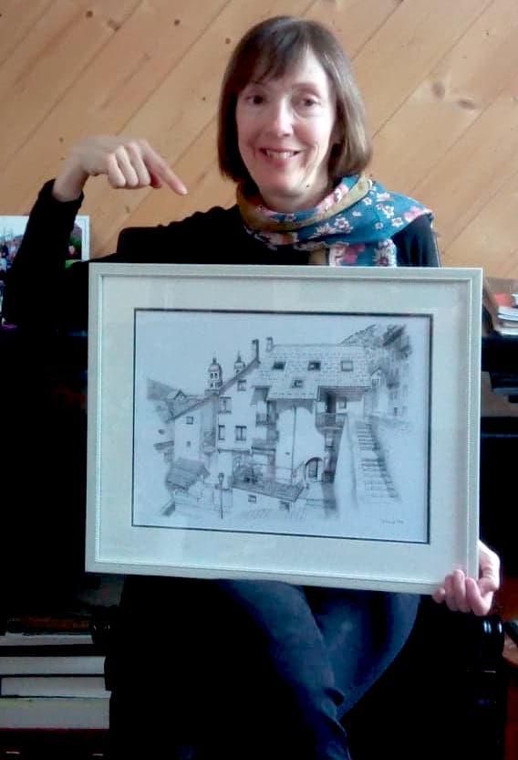 Maison à Tour, A3 print with frame