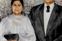 Portrait of Mr and Mrs Dhura
