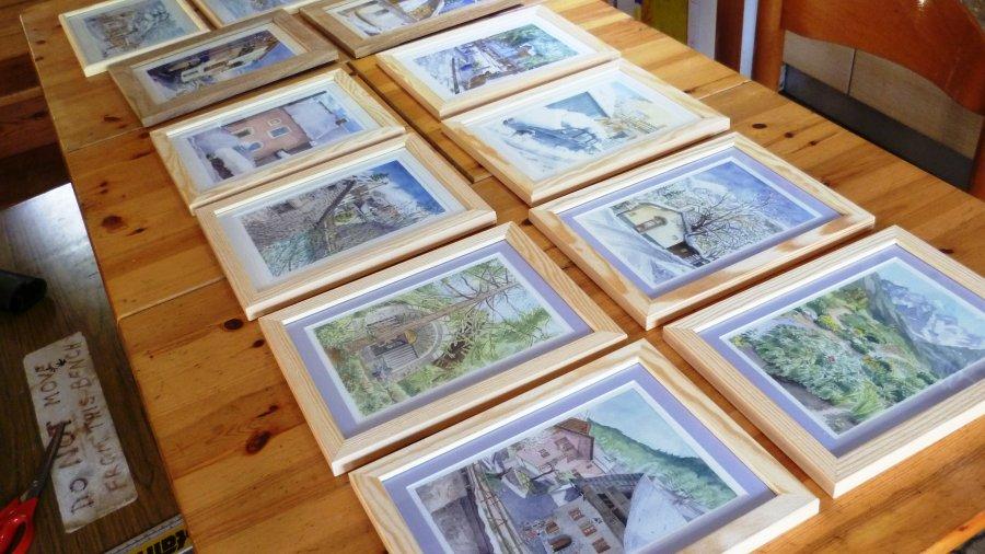 Susan Lomas framed originals