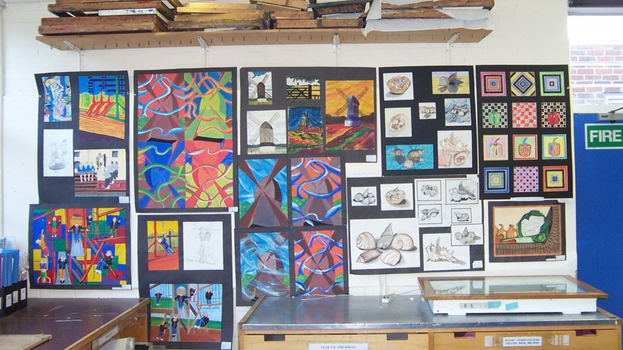 GCSE Art display, John Colet School